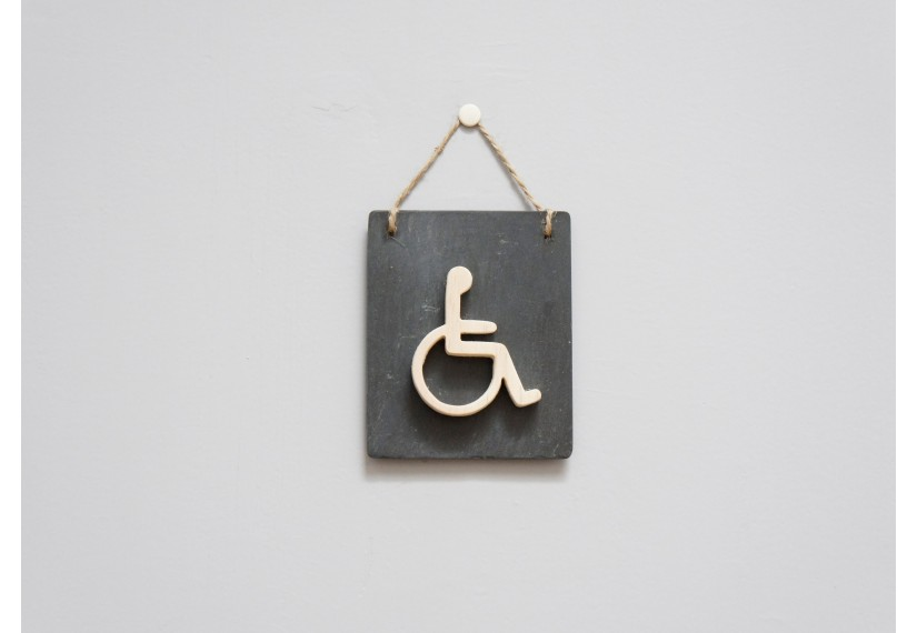 Porte handicap id es novatrices de la conception et du - Plaque de porte wc design ...