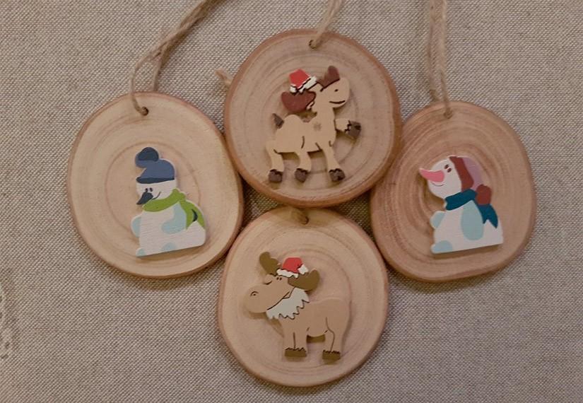rondins de bois de Noël